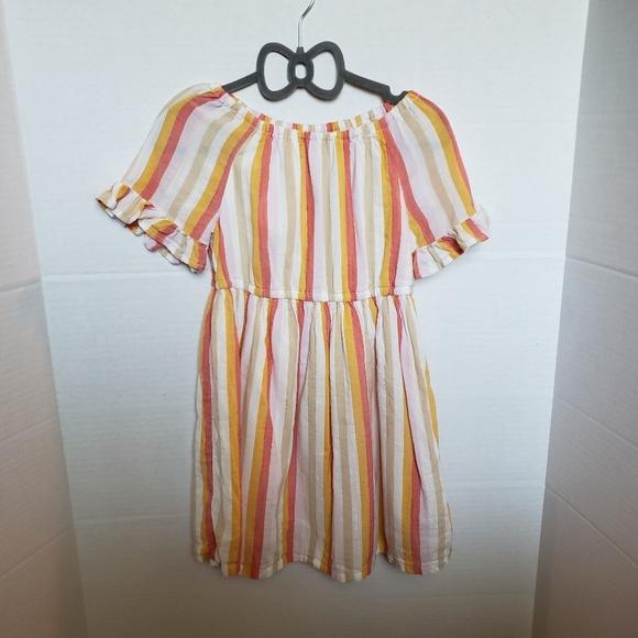 OLD NAVY STRIPED DRESS MUSTARD, BEIGE, PIN…
